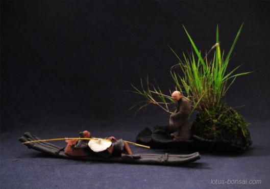 pecheur-cormoran-figurine-penjing-bonsai