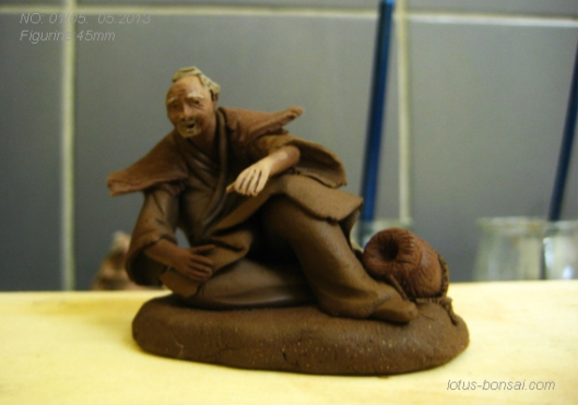 bonsai clay figurine