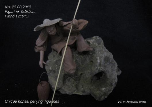 bonsai clay figurine