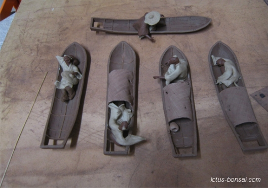 Bonsai Penjing mud figures