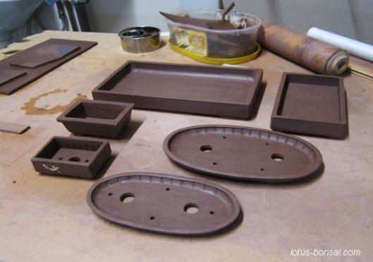 Lotus Bonsai pots & mudmen