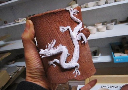 dragon bonsai pot