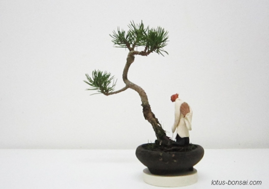 bonsai mud figure