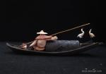 Bonsai-figurine-Boat-&-Fishermen-4