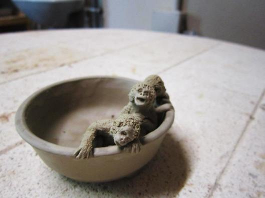 bonsai pot monkey