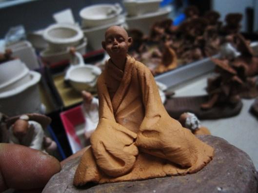 bonsai-figurine-moine-shaolin